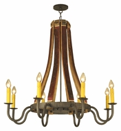 Meyda Tiffany 132914 Barrel 8 Candle 44 Inch Diameter Hanging Chandelier Lamp