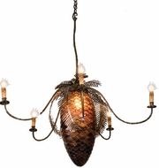 Meyda Tiffany 19829 Pinecones 41 inches wide 5 Light Rustic Chandelier