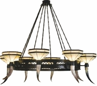 Meyda Tiffany 19985 Old Forge 8 Light Steer Horn Chandelier