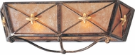 Troy B1012BLF Cheshire 18 inchesW x 7 inchesH Bronze and Cognac Mist Bath Wall Lighting Fixture