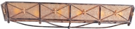 Troy B1016BLF Cheshire 40.5 inchesW x 7 inchesH Bronze and Cognac Mist Vanity Wall Lighting Fixture