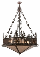 Meyda Tiffany 114448 Wildlife At Dusk 38 Inch Diameter Rustic Pendant Hanging Light