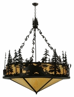 Meyda Tiffany 115032 Moose At Dusk 56 Inch Diameter 6 Lamp Drop Lighting - Timeless Bronze