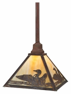 Meyda Tiffany 115196 Square Loon Vintage Copper Finish 17 Inch Diameter Hanging Light