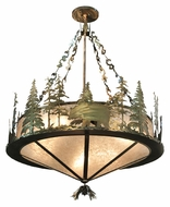 Meyda Tiffany 110807 Wildlife Antique Copper Finish 62 Inch Diameter Hanging Light