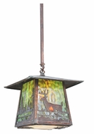 Meyda Tiffany 111475 Square Stillwater Deer Creek Vintage Copper 17 Inch Wide Lamp Sconce