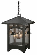 Meyda Tiffany 107374 Square Lone Pine 37 Inch Diameter Lantern Hanging Pendant With Seedy Glass