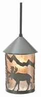 Meyda Tiffany 108462 Lone Moose Timeless Bronze 6 Inch Diameter Mini Pendant Lighting