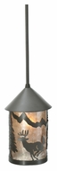 Meyda Tiffany 108463 Lone Deer Mini 6 Inch Diameter Timeless Bronze Drop Ceiling Light Fixture