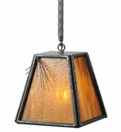 Meyda Tiffany 108586 Square Lone Pine 12 Inch Wide Timeless Bronze Mini Pendant Lamp