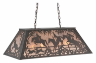 Meyda Tiffany 109866 Fox Hunt Mahogany Bronze Rustic 33 Inch Wide Billiard Lighting
