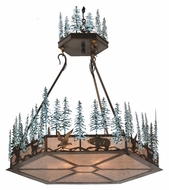 Meyda Tiffany 106007 Wildlife At Pine Lake 37 Inch Diameter Antique Copper Rustic Lighting Pendant
