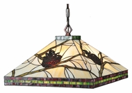 Meyda Tiffany 106511 Burgundy Pine Branch Mission 17 Inch Tall Rustic Drop Ceiling Lighting