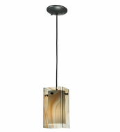 Meyda Tiffany 111347 Quadrato Baroque Cognac Contemporary Mini Pendant