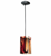 Meyda Tiffany 111344 Quadrato Baroque Cabernet Contemporary Mini Pendant