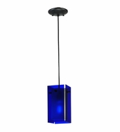 Meyda Tiffany 111283 Quadrato Bold Colors Blue Contemporary Mini Pendant