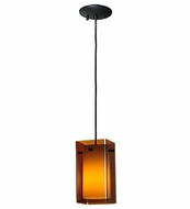 Meyda Tiffany 111009 Quadrato Bold Colors Amber Contemporary Mini Pendant