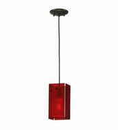 Meyda Tiffany 111274 Quadrato Bold Colors Red Contemporary Mini Pendant