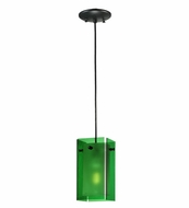 Meyda Tiffany 111285 Quadrato Bold Colors Green Contemporary Mini Pendant