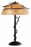 Kenroy Home 30900BRZ Twigs Rustic Bronze Finish 25 Inch Tall Table Lamp