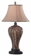 Kenroy Home 31124LBZ Bermuda Leafed Bronze 35 Inch Tall Table Top Lamp