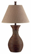 Kenroy Home 20390NR Santiago Natural Reed 31 Inch Tall Rustic Living Room Table Lamp