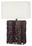 Kenroy Home 20976DW Whistler 29 Inch Tall Dark Wicker Bed Lamp