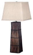 Kenroy Home 20977DRT Wakefield Dark Rattan Finish 32 Inch Tall Living Room Table Lamp