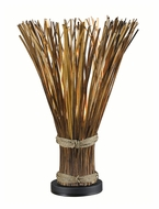 Kenroy Home 21066NR Sheaf Natural Reed 25 Inch Tall Table Top Lamp