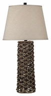 Kenroy Home 20974 Jakarta Rustic Style 30 Inch Tall Rope Weave Living Room Table Lamp
