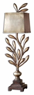 Uttermost 29513-1 Angelita Rustic 36 Inch Tall Antiqued Champagne Leaf Table Lamp Lighting