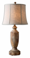 Uttermost 27687 Calvino Transitional Bleached Solid Wood Table Lamp - 32 Inches Tall