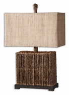 Uttermost 27994-1 Barbuda Rustic Woven Palm Branch Living Room Table Lamp - 27 Inches Tall