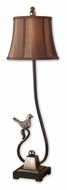 Uttermost 29165 Peaceful Rustic Dark Bronze 36 Inch Tall Ornate Bird Table Lamp Lighting
