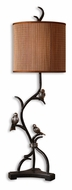 Uttermost 29168-1 Three Little Birds Rustic Bronze Metal Branch Lighting Table Lamp - 39 Inches Tall