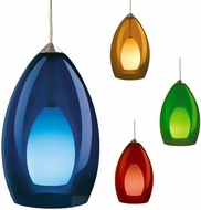 Tech Fire Low-Voltage Halogen Art Glass Pendant Light