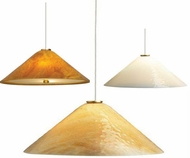 Tech Mini Larkspur Low-Voltage Halogen Art Glass Pendant Light