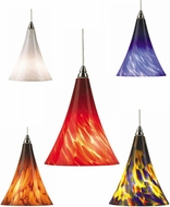 Tech Mini Melrose Low-Voltage Halogen Frit Art Glass Pendant Light