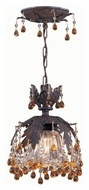 Crystorama 5235-DR-AMBER Melrose Amber Crystal Dark Rust Semi Flush Mount Ceiling Light Fixture