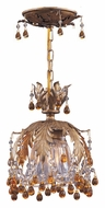 Crystorama 5235-GL-AMBER Melrose Ceiling Mount 6 Inch Diameter Gold Leaf Amber Crystal Semi Flush Light