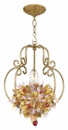 Crystorama 403-GA Fiore Rustic Antique Gold Finish 13 Inch Tall Ceiling Light Pendant