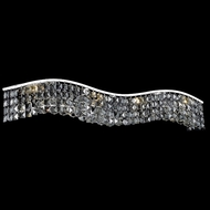 Elegant 2041W36C-SS-RC Contour Medium 36  Silver Shade Crystal Bathroom Vanity Light