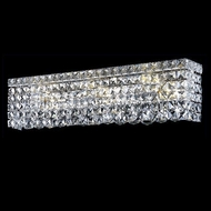 Elegant 2033W26C-RC Maxim Small Clear Crystal Vanity Light Fixture