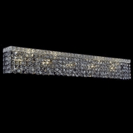 Elegant 2033W44C-SS-RC Maxim 10-light Extra Large Silver Shade Crystal Bathroom Lighting Fixture