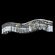 Elegant 2040W30C-RC Contour Small Crystal Chrome Vanity Bathroom Light
