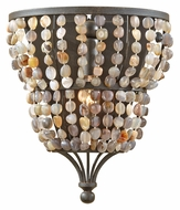 Feiss WB1604RI Maarid Small 10 Inch Tall Transitional Wall Light - Rustic Iron