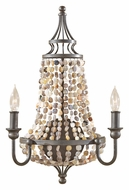 Feiss WB1605RI Maarid Large Rustic Iron 20 Inch Tall Candle Wall Sconce