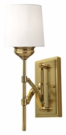 Feiss WB1608BLB Hugo Bali Brass Finish 15 Inch Tall Wall Light Sconce
