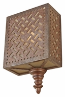 Feiss WB1609MOB Kandira Transitional Style Moroccan Bronze Lamp Sconce - 12 Inches Tall