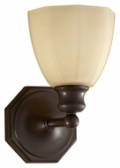 Feiss VS23001-HTBZ Nella Transitional 9 Inch Tall Heritage Bronze Finish Wall Lighting Sconce